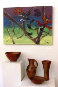 Pots by Nan Rothwell & Painting by Lindsay Michie Eades